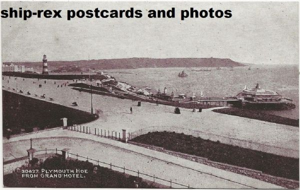 Plymouth (Devon), The Hoe from Grand Hotel - postcard